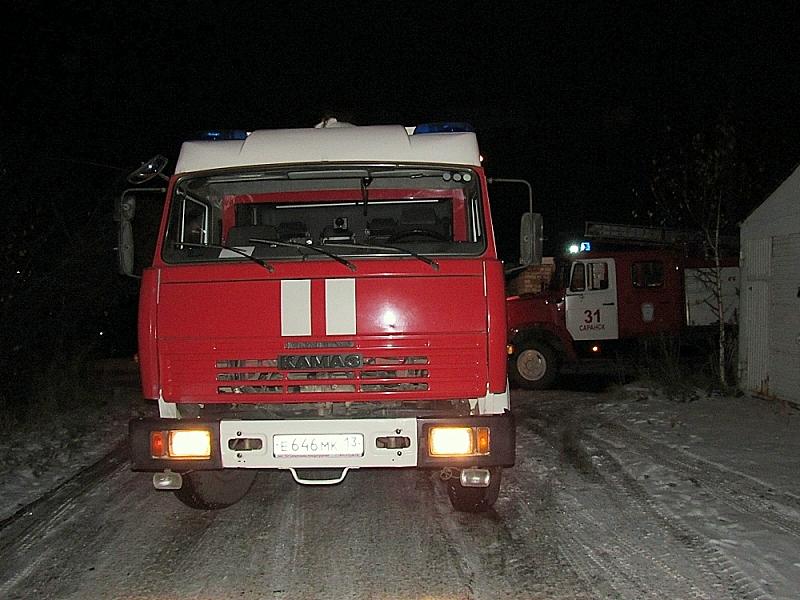 Пожар вОктябрьском районе Саранска: спасти 58-летнюю женщину неудалось