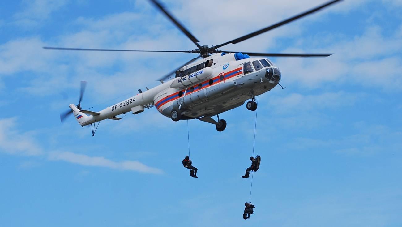 МЧС Мордовии передает обучениях сучастием вертолета