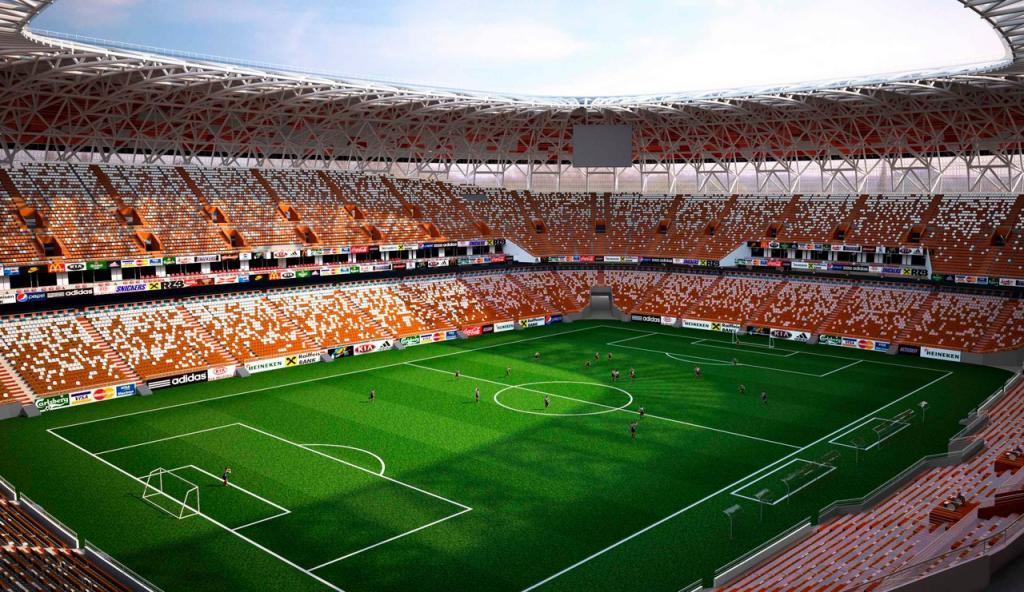 «Мордовия Арена» будет оформлена вярко солнечный цвет