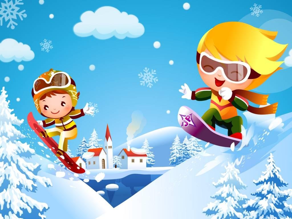 Картинки зимних спортивных игр для детей