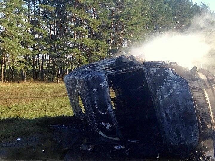 Пассажирская «Газель» угодила вДТП исгорела натрассе Саранск-Ульяновск