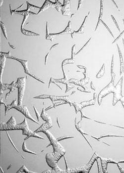 """Узорчатое стекло  """"ODG-006 бесцветное """" с декоративным рисунком по технологии..."""