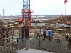 Строители начали возводить кровлю стадиона «Мордовия Арена»
