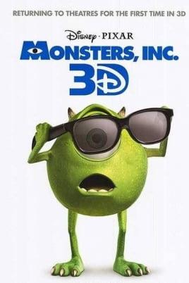 Корпорация монстров в 3D постер