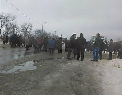 Сегодня утром жители Атемара протестовали
