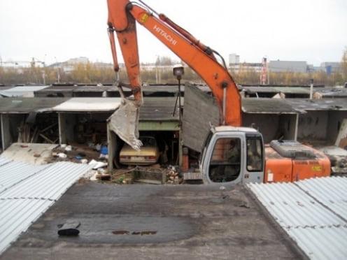 В Саранске — очередная «волна» сноса незаконных гаражей