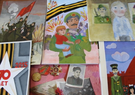 Жители Мордовии нарисовали марки и конверты в честь Великой Победы