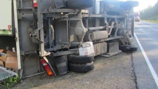 В Саранске водитель «Лады» перевернул грузовой фургон