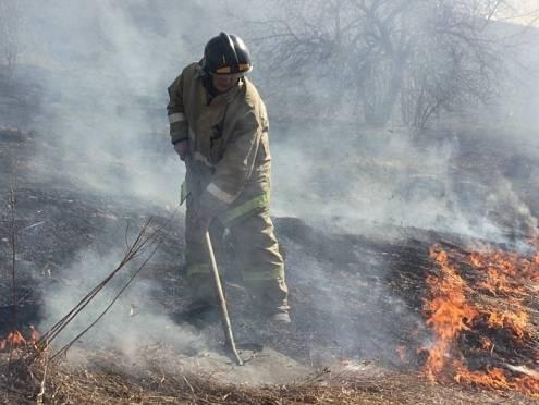 В Мордовии огонь с травы несколько раз едва не перекинулся на дома