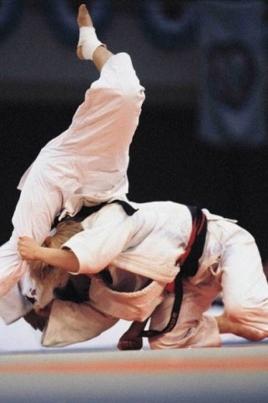 Показательные выступления спортсменов киокусинкай каратэ постер