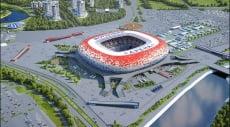 На стадионе «Мордовия Арена» начались работы по возведению кровли