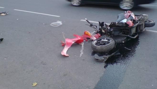 В Мордовии пенсионер на скутере пострадал в ДТП, которое сам и спровоцировал