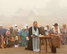В Мордовии с пожарами будут бороться с Божьей помощью