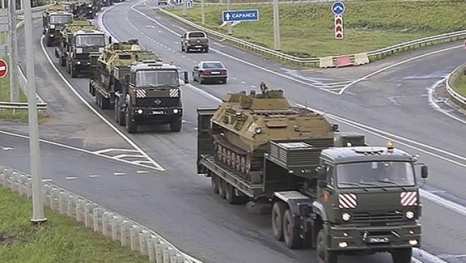 Уникальный батальон перевёз из Мордовии в Пензенскую область более 100 единиц военной техники