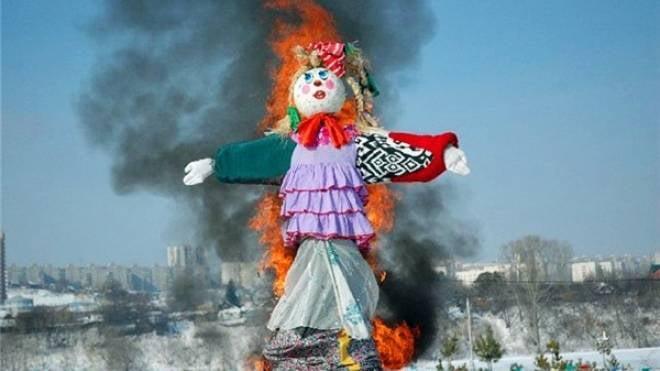 МЧС Мордовии позаботится о безопасном сжигании чучела зимы