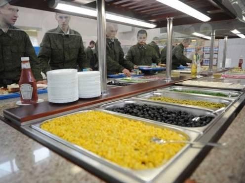 Российские солдаты будут есть со «шведского стола»