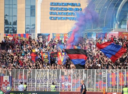 В Саранске болельщиков ЦСКА наказали за файеры и курение