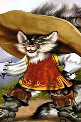 Кот в сапогах постер