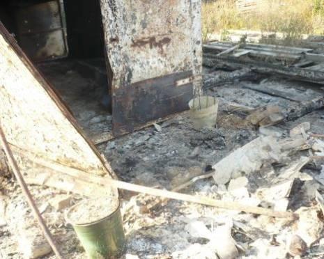 Житель Мордовии сгорел в металлической будке
