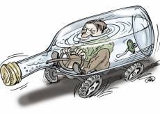 В Саранске пьяный водитель, лишённый прав на 11,5 лет, устроил ДТП