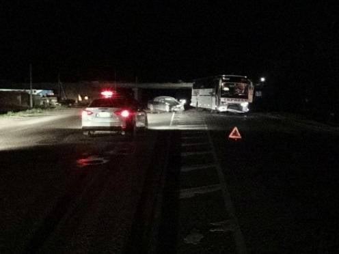 В Мордовии автоледи столкнулась с автобусом на «встречке»