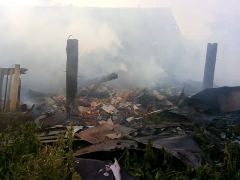 При пожаре в мордовской деревне погибли 16 поросят