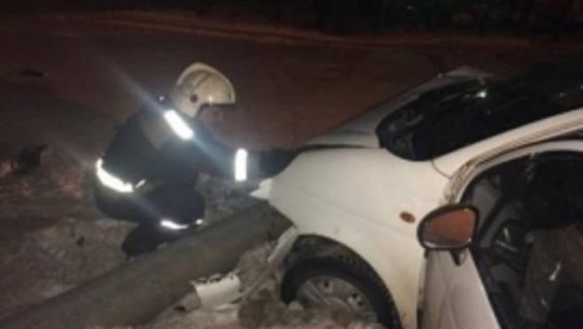 Водитель «Дэу Матиз» протаранил дорожное ограждение на трассе «Саранск — Сурское — Ульяновск»