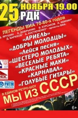 Мы из СССР постер