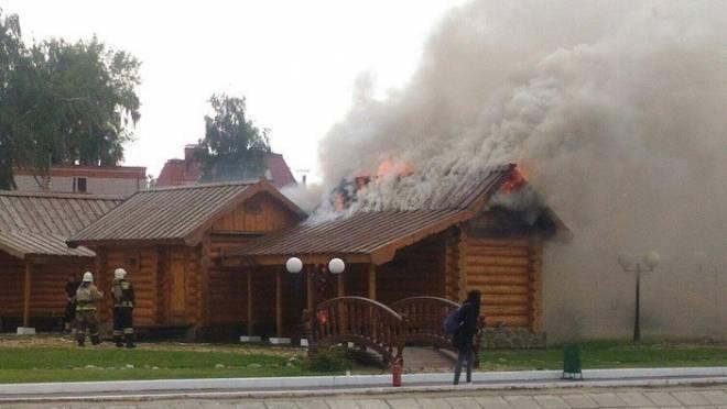 Комплекс «Мордовское подворье» в Саранске мог загореться из-за неисправной проводки