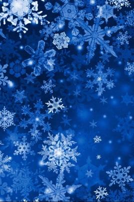 Три снежинки: голубая, золотая, серебристая постер