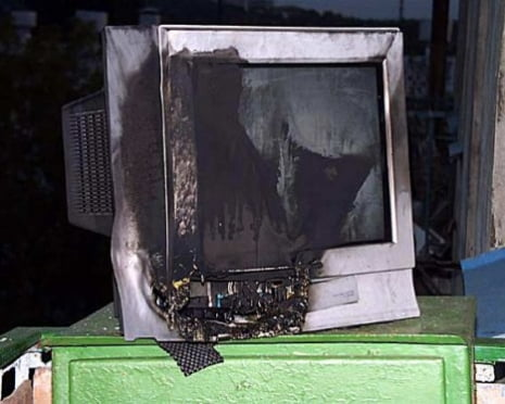 У жителя Саранска в новогоднюю ночь загорелся телевизор