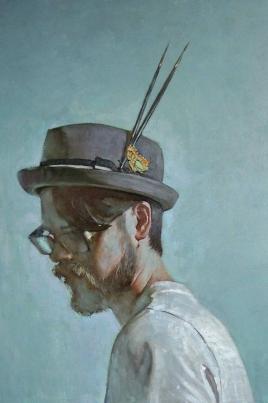 Творческий вечер с выставкой работ художника Дениса Куксова постер