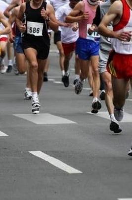 Всероссийский легкоатлетический пробег постер