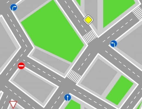 В Саранске водителей направили на верный путь на круговых перекрёстках