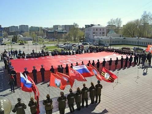 В Саранск привезут копию Знамени Победы размером 200 кв м