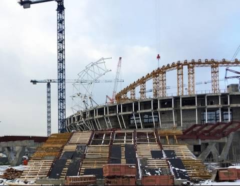 Стадион к ЧМ-2018 в Саранске готов на 60%