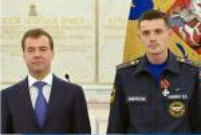 Пожарные Мордовии получили награды из рук Президента России