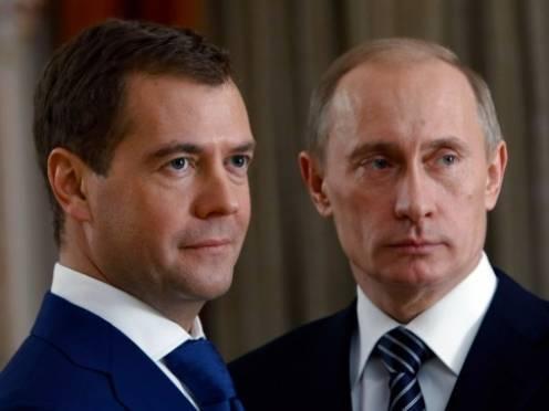 Зарплаты Путина и Медведева выросли почти втрое