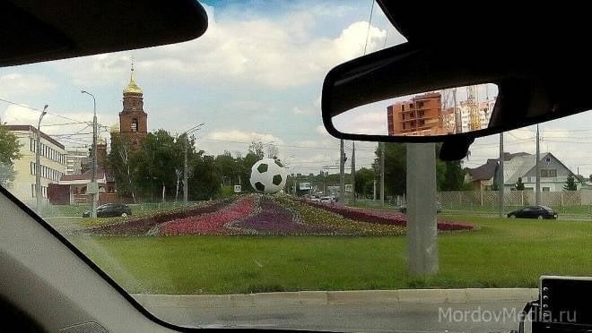 Саранск украсил новый футбольный арт-объект
