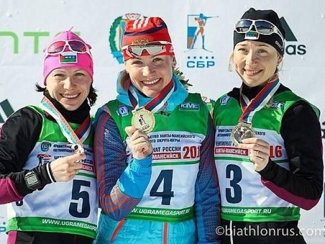 Биатлонистка Никулина вырвала победу на чемпионате России