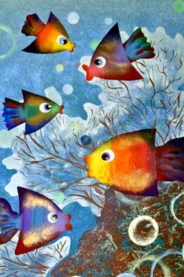 Подводный мир постер