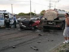 В Мордовии столкнулись фура и две легковушки