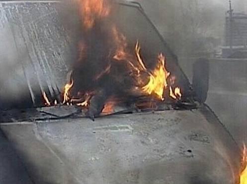 В Мордовии загорелась пассажирская «ГАЗель»