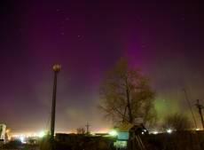 Северное сияние появилось в небе над Мордовией