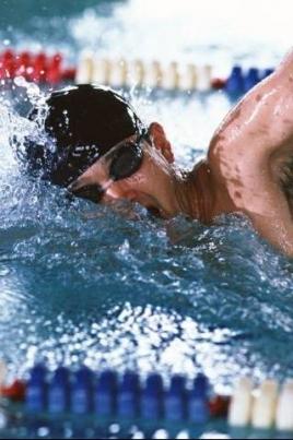Соревнования по плаванию на дистанции 50 метров постер