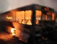 В Ростовской области загорелся автобус с саранскими хоккеистами