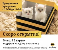 «Билайн» в Саранске приглашает в новый офис