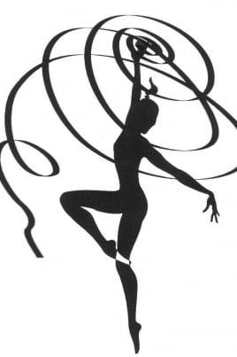 Cоревнования по художественной гимнастике постер