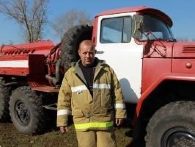 В Мордовии пожарный-доброволец получил награду от МЧС