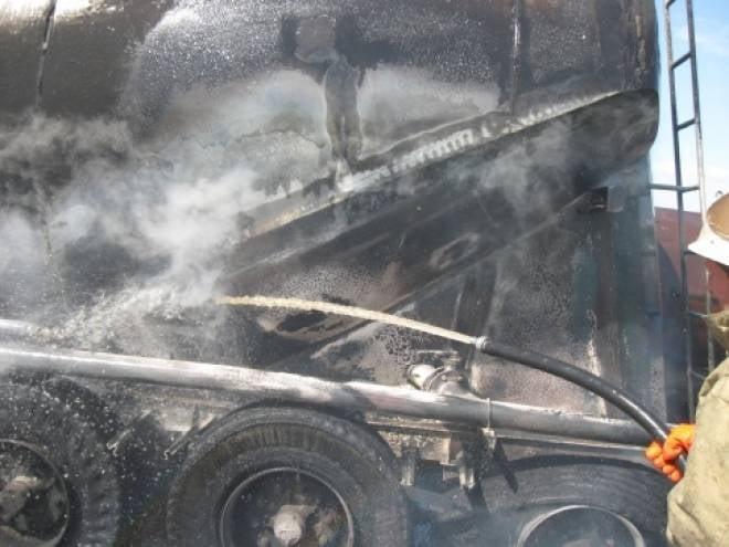 В Мордовии чуть не сгорел цементовоз